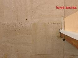 mastic sur travertin pierre naturelle marbrerie. Black Bedroom Furniture Sets. Home Design Ideas